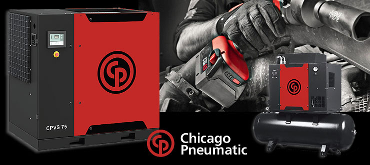 Chicago Pneumatc - CP - Skruvkompressor - Sverige